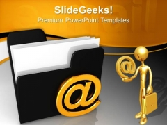 3d Email Folder Internet PowerPoint Templates And PowerPoint Themes 0712