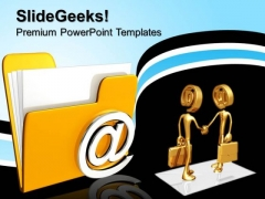 3d Email Folder Internet PowerPoint Templates And PowerPoint Themes 0812