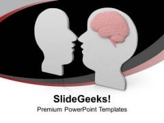 3d Face Mirror Reflection With Brain Medical PowerPoint Templates Ppt Backgrounds For Slides 0413