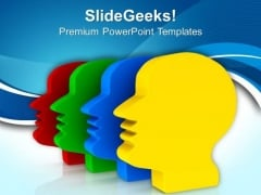 3d Faces With Abstract Design PowerPoint Templates Ppt Backgrounds For Slides 0613