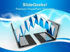 3d File Sharing Between Computers PowerPoint Templates And PowerPoint Themes 0912