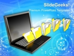 3d File Sharing Business PowerPoint Templates And PowerPoint Themes 1012
