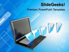 3d File Sharing Concept PowerPoint Templates And PowerPoint Themes 0912