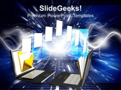 3d File Sharing Network Concept PowerPoint Templates And PowerPoint Themes 1012