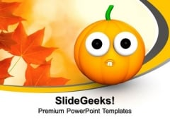 3d Halloween Pumpkin Character Festival PowerPoint Templates And PowerPoint Themes 1012