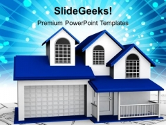 3d Home Real Estate PowerPoint Templates And PowerPoint Themes 1112
