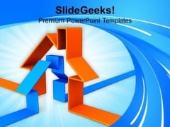 3d Houses Family PowerPoint Templates And PowerPoint Themes 1112