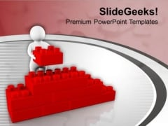 3d Human Arranging Cube Puzzle PowerPoint Templates Ppt Backgrounds For Slides 0713