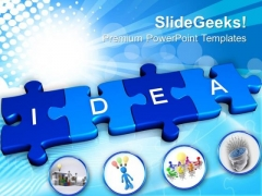 3d Idea Jigsaw Puzzle Business PowerPoint Templates And PowerPoint Themes 1012