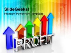 3d Illustration Of Business Profit Success PowerPoint Templates Ppt Backgrounds For Slides 1212