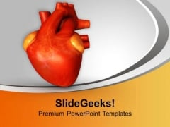 3d Illustration Of Human Heart Health PowerPoint Templates Ppt Backgrounds For Slides 0513
