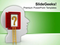 3d Illustration Of Open Mind PowerPoint Templates Ppt Backgrounds For Slides 0813