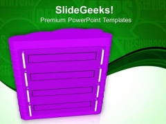 3d Illustration Of Server PowerPoint Templates Ppt Backgrounds For Slides 0713