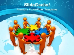 3d Illustration Of Team Efforts PowerPoint Templates Ppt Backgrounds For Slides 0113