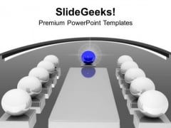3d Image Of A Illustrated Board Meeting PowerPoint Templates Ppt Backgrounds For Slides 1212