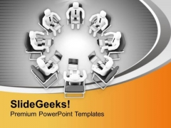 3d Image Of Business Meeting PowerPoint Templates Ppt Backgrounds For Slides 0713