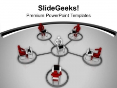 3d Image Of Business Network PowerPoint Templates Ppt Backgrounds For Slides 0713