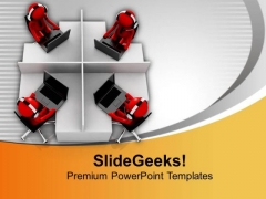 3d Image Of Customer Support Center PowerPoint Templates Ppt Backgrounds For Slides 0713