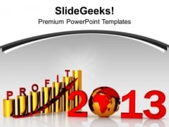 3d Image Of High Business Profit Year PowerPoint Templates Ppt Backgrounds For Slides 0113
