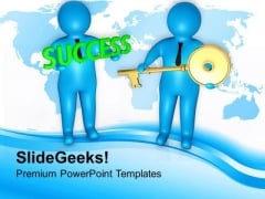 3d Image Of Key To Success PowerPoint Templates Ppt Backgrounds For Slides 0813