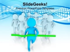 3d Image Of Running Men PowerPoint Templates Ppt Backgrounds For Slides 0713