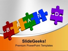 3d Jigsaw Puzzles Of Brand Sales PowerPoint Templates Ppt Backgrounds For Slides 0113
