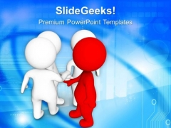3d Leader Making A Deal PowerPoint Templates Ppt Backgrounds For Slides 0713