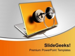 3d Locked Notebook Security PowerPoint Templates Ppt Backgrounds For Slides 0113