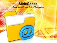 3d Mail Folder Internet PowerPoint Templates And PowerPoint Themes 0812