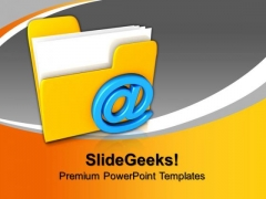 3d Mail Folder Internet PowerPoint Templates And PowerPoint Themes 1012
