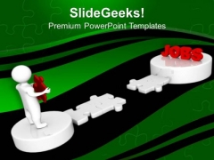 3d Man And Puzzle With Word Retirement Business PowerPoint Templates And PowerPoint Themes 1012