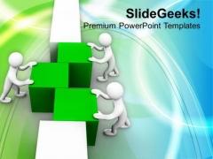 3d Man Arranging Cubes Teamwork PowerPoint Templates Ppt Backgrounds For Slides 0413