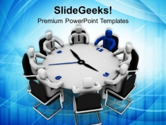3d Man Business Conference Meeting Leadership PowerPoint Templates Ppt Backgrounds For Slides 0313