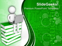 3d Man Change In Technology PowerPoint Templates Ppt Backgrounds For Slides 0413