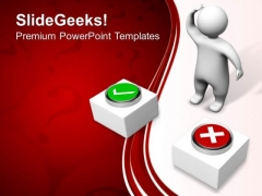 3d Man Confused People PowerPoint Templates And PowerPoint Themes 0812
