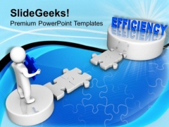 3d Man Corss Path To Efficiency Business PowerPoint Templates Ppt Backgrounds For Slides 0113