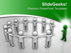 3d Man Joining Business Team Leadership PowerPoint Templates Ppt Backgrounds For Slides 0213