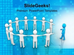 3d Man Joining Team Leadership PowerPoint Templates Ppt Background For Slides 1112