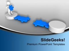 3d Man Making Path Solution Concept PowerPoint Templates Ppt Backgrounds For Slides 0113