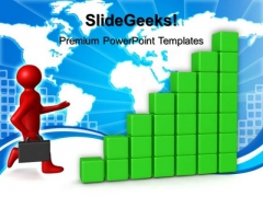 3d Man Run Towards Profit Global PowerPoint Templates And PowerPoint Themes 0512