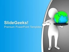 3d Man Save Planet Earth PowerPoint Templates Ppt Backgrounds For Slides 0713