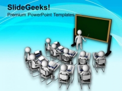 3d Man Teaching In Classroom PowerPoint Templates Ppt Backgrounds For Slides 0713
