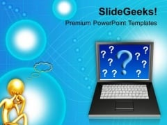 3d Man Technical Information Communication PowerPoint Templates Ppt Backgrounds For Slides 0113