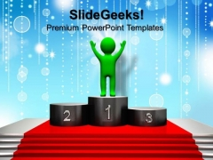 3d Man Winning People PowerPoint Templates And PowerPoint Themes 0812