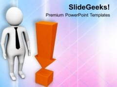3d Man With Exclamation Mark PowerPoint Templates Ppt Backgrounds For Slides 0813