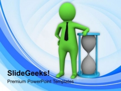 3d Man With Hour Glass PowerPoint Templates Ppt Backgrounds For Slides 0713