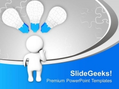 3d Man With Jigsaw Puzzles PowerPoint Templates Ppt Backgrounds For Slides 0413