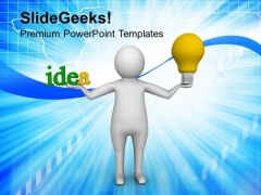 3d Man With New Idea PowerPoint Templates Ppt Backgrounds For Slides 0813