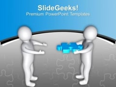 3d Man With Puzzle Piece Solution Concept PowerPoint Templates Ppt Backgrounds For Slides 0213