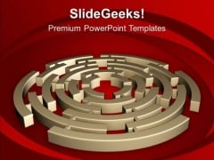 3d Maze Business Strategy Concepts PowerPoint Templates Ppt Backgrounds For Slides 0413